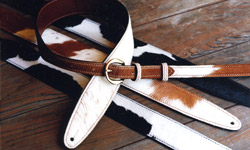 Rear-Buckle Leather Guitar Straps